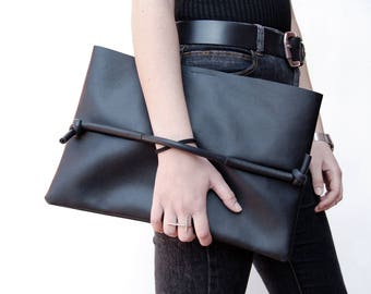 Maxi pochette, handmade bag, clutch, handbag, leatherette, gray, minimal chic, essential, street style