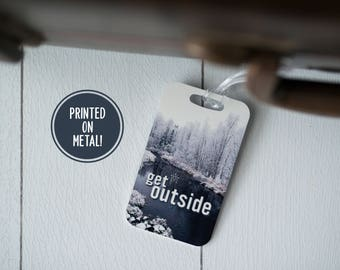 Travel Tag Adventure - Outdoors - Suitcase - Luggage Tag - Adventure Tag - Adventure Awaits - Travelers Gift - Explore - Mountains