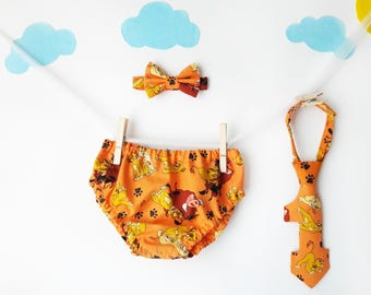 Lion King cake smash, Lion King baby, cake smash outfit boy, first birthday boy, smash cake boy, diaper cover tie, 1st birthday boy outfit