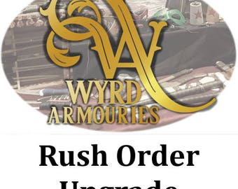 RUSH ORDER - Upgrade for Made to Order Items