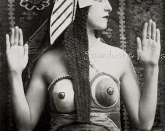 ANTIQUE PhoTo DOWNLOAD Photo Early 1900s Cleopatra - Instant DIGITAL Vintage Print Beautiful Woman Junk Journal Altered Art To Frame no1585