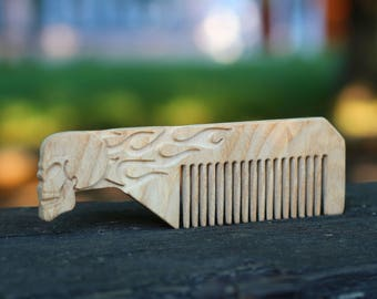 Wooden hair comb father gift gift for husband beard comb gift for brother Best friend gift Mens gift Beard grooming gift for boyfriend