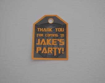 Pack of 10 ~ Transformers theme party bag tags