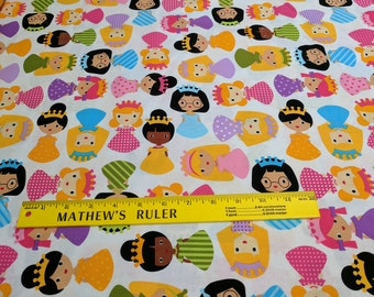 Girl Friends-Bright Cotton Fabric Designed by Anne Kelle for Robert Kaufman