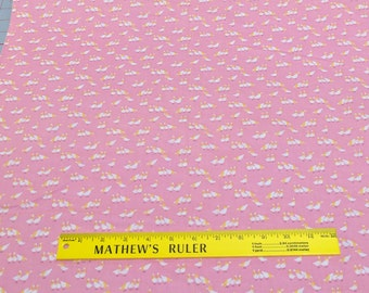 Geese on Pink Cotton Fabric
