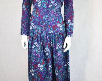 Vintage 1970s Floral Maxi Dress