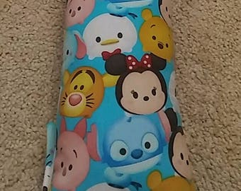 Disney Tsum Tsum Seat Belt Pillow w/ Fastener Straps - Toddlers or Adults