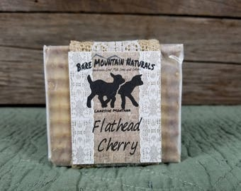 Flathead Cherry fragrance All Natural Goat Milk Soap