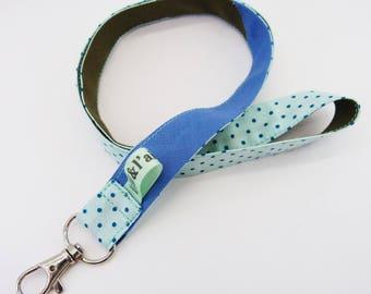 Key, Khaki and blue cord