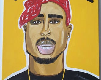 Dope Wall Canvas - Tupac Hand Painted Canvas - Thug Life - 2pac