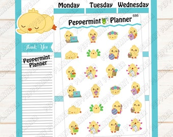 Sweet little Chick --- Planner Stickers --- 686