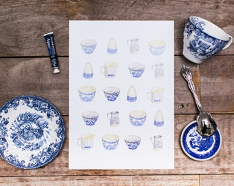 Ceramics Pattern Illustration  - Art Print