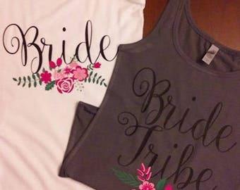 Bride & Bride Tribe Tanks