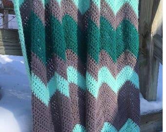 Chevron Crochet Etsy
