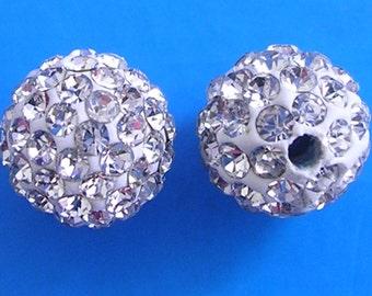 10 Crystal Quality Pave Rhinestone Disco Balls 8mm 10mm 12mm Shamballa Beads