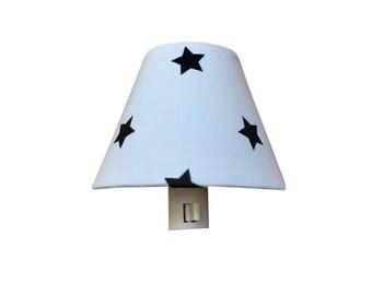 Navy White Star Night Light - Baby G Boy Nursery Decor-Star  Nightlight-Preppy Space Boys  Room Bedroom Bathroom