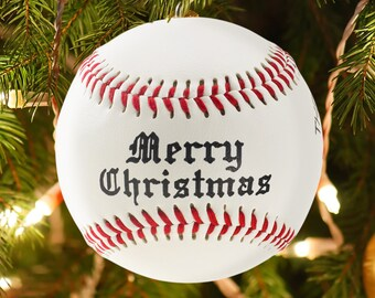 Personalized Custom Baseball Christmas Ornament