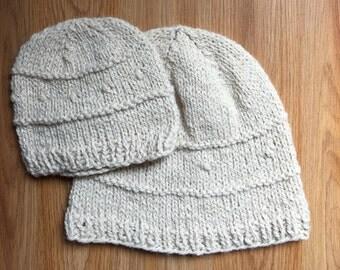 Honeymilk Alpaca Kids' Hat, Alpaca Wool Silk White Cream Hat, Toddler Wool Hat, Small Farm Natural Wool from Long Island, NY – Made in USA