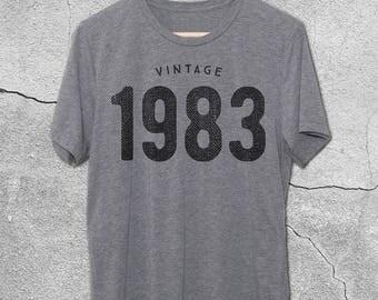 35th Birthday for Him & Her - Vintage 1983 T-Shirt - 35th Birthday Shirt - Gift Ideas - tshirt - 35th birthday gifts for women men