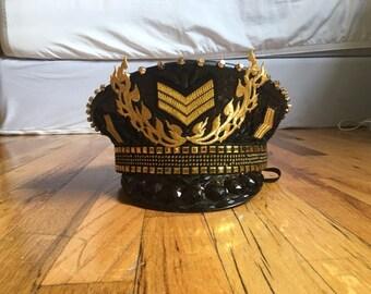 Burning Man Hat Military Festival