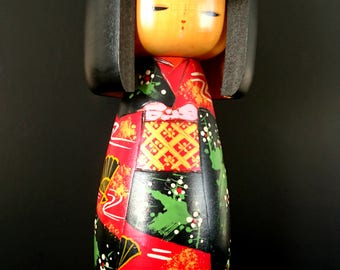 Vintage Sosaku Kokeshi Japanese Antique Wooden Doll AV