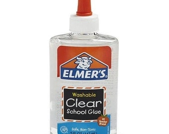 Elmer's Clear Glue, Washable Glue,  5 ounces of Slime Glue - 5 oz Student Glue - Paper crafts, fabric crafts, slime-making - Free confetti