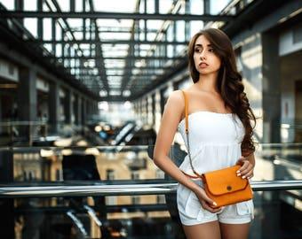 Italian-style women's bag MINI / Leather purse, Crossbody bag, Women's purse, Leather bags, Italian leather bag, Leather bag, Shoulder purse