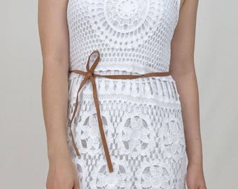 Crochet top in White