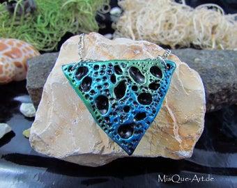 Triangle trailer metallic green blue