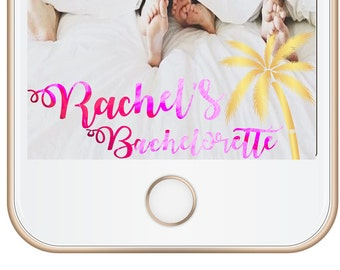Snapchat Geofilter Bachelorette Party Filter, Bachelorette Snapchat Filter, Bachelorette Geofilter, Hen Party, Bridal Shower, Beach, PINK