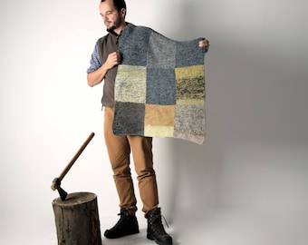 Throw Blanket, Wool Blanket, Handmade afghan, Knit blanket, Vintage Blanket, Baby blanket, Colorful blanket, home decor, Bedding, Wool
