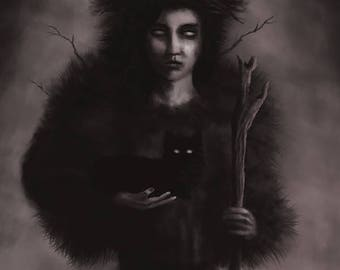 The Witch - 8X10 matte print