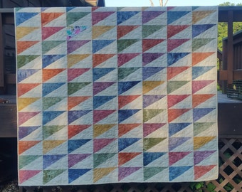 Hand dyed fabric quilt