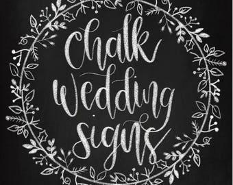 Chalk Wedding Signs Set - Digital Prints Instant Download