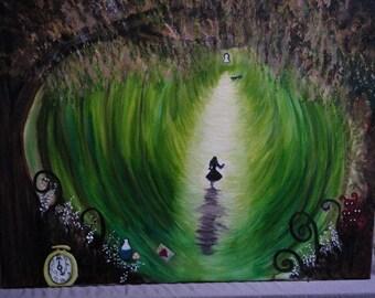 5 pc Oil Painting Set Alice in Wonderland