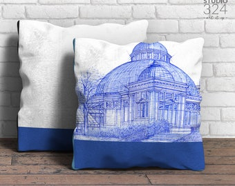 Allan Gardens Square Pillow | Blue Prints