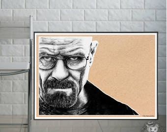 Breaking Bad - Walter White  - Fine Art Print - A4/A3