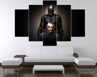 Joker Joker Wall Art Batman Joker Poster Batman Poster Joker Print Joker Canvas Joker Wall Decor Batman Print Joker art Movie canvas print