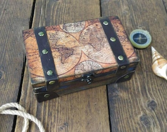 Map jewelry box etsy vintage map box globes and maps box vintage map chest pirate chest gumiabroncs Image collections