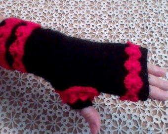 Romantic Mitts / Gloves without Fingers / Ladies' Winter Mitts