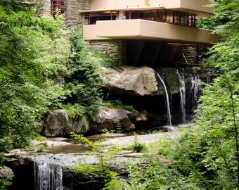 Fallingwater from Overlook Trail, Photographic Print, Wall Art, Home Decor
