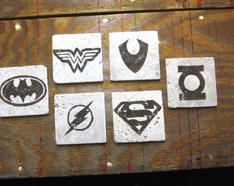 NEW** Justice League Stone Coasters