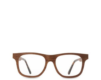 cherry wood optical glasses wooden eyeglasses frame clear lenses hipster thick natural personalized glasses uni reading - Wood Frame Eyeglasses
