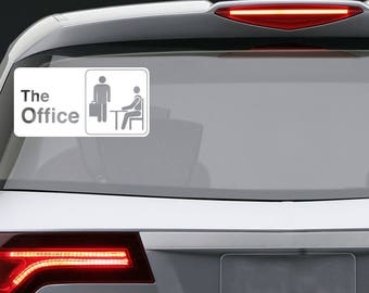 The Office vinyl decal / Car window or bumper Laptop phone iPhone Wall Art Sticker Decals / Living room home decor removable tv show decor