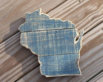 Wisconsin State Sign | Reclaimed Wood Sign