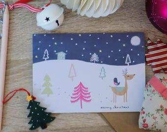 Winter Wonderland - Reindeer in the Forest, Christmas Card