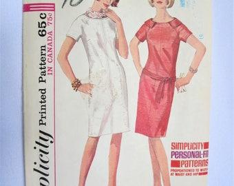 Vintage Pattern, 60s Dress Pattern, 60s Dress, Sheath Dress, Mod Dress, 70s, Belt, Simplcity, Simplicity 5995, Shift Dress, Size 12