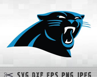 Carolina Panthers SVG PNG Logo Layered Vector Cut File Silhouette Studio Cameo Cricut Design Template Stencil Vinyl Decal Transfer Iron on