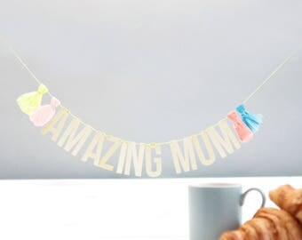 Mother's Day Garland Mothers Day Decor Mother's Day Gift Ideas Amazing Mum Gift Ideas For Mum Party Decor Baby Shower Garland Wooden Garland