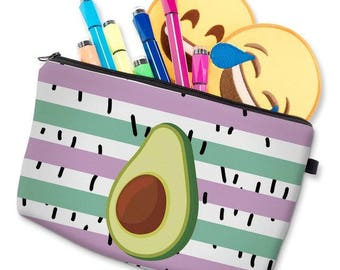Avocado multipurpose make up toiletries pouch case